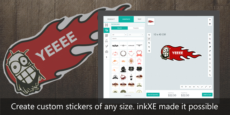 Custom sticker designer tool inkxe