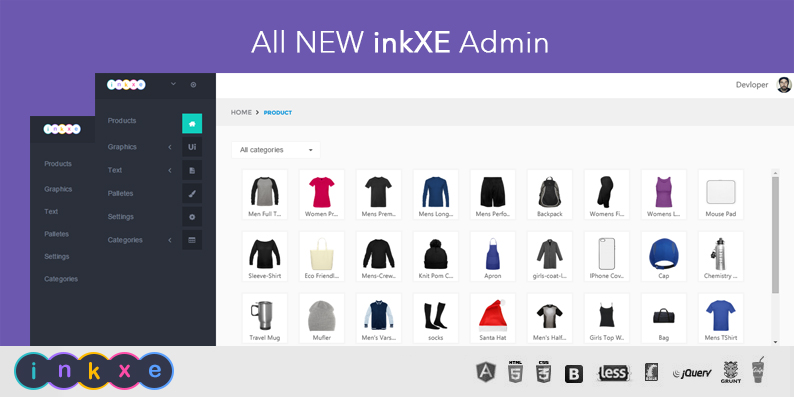 New inkXE Admin Theme