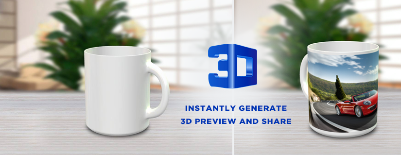 3D Previewer Rotator Mug Designer Software