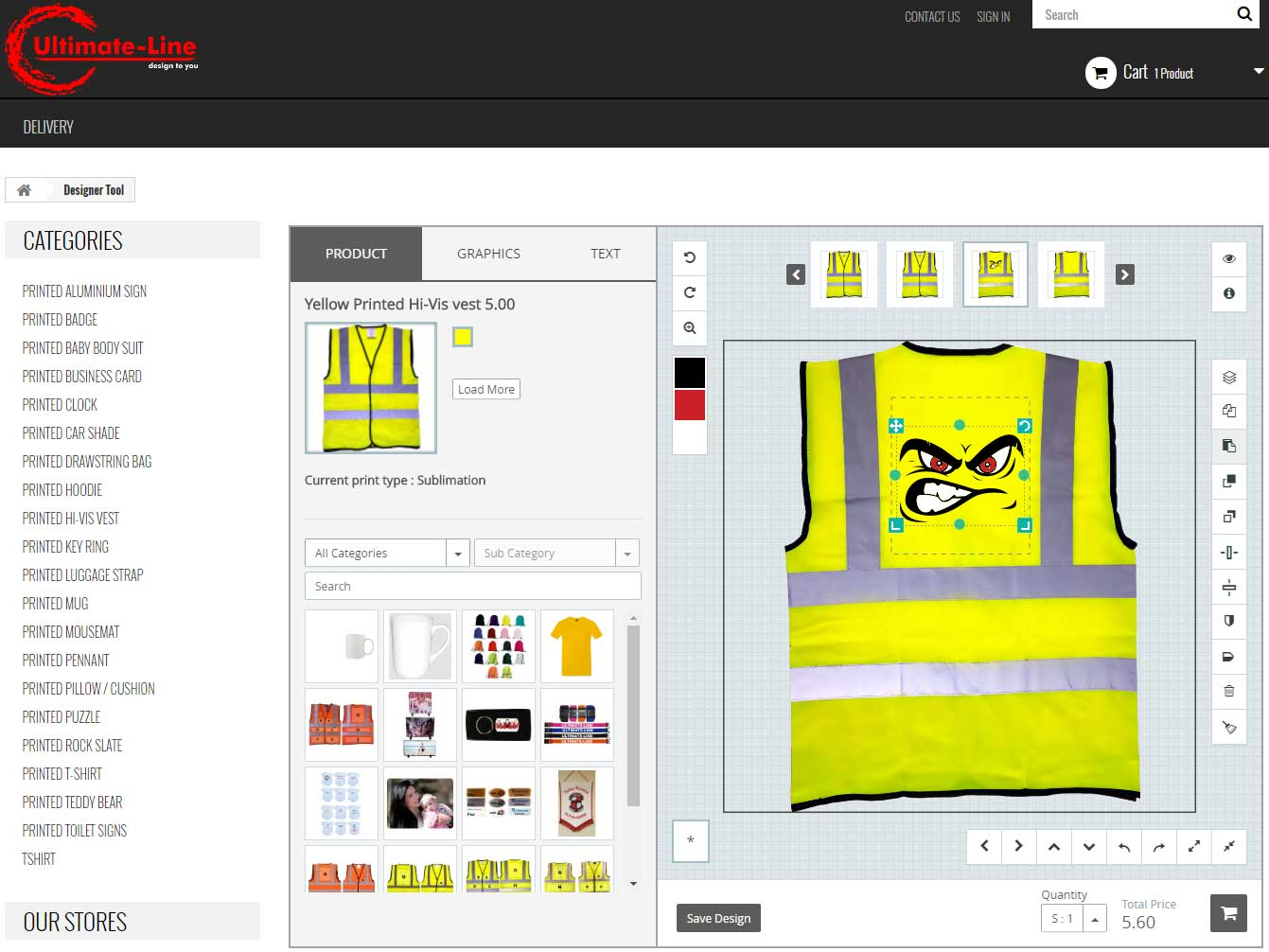 Custom Product And Tshirt Design Tool For Prestashop