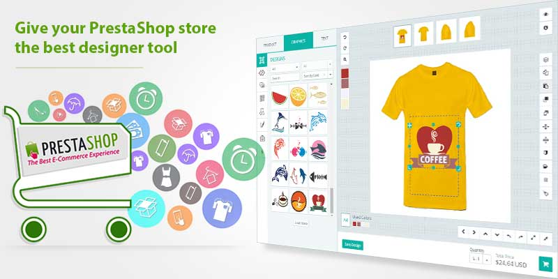 Online Custom Product Design Tool For PrestaShop