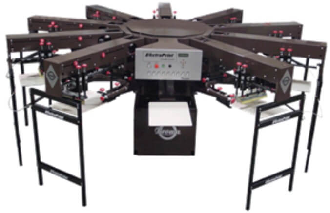 Brown ElectraPrint Automatic Textile Printer