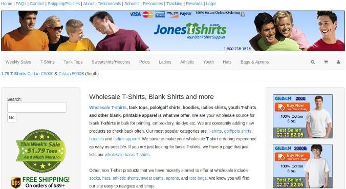 Jones T-Shirts, Inc.