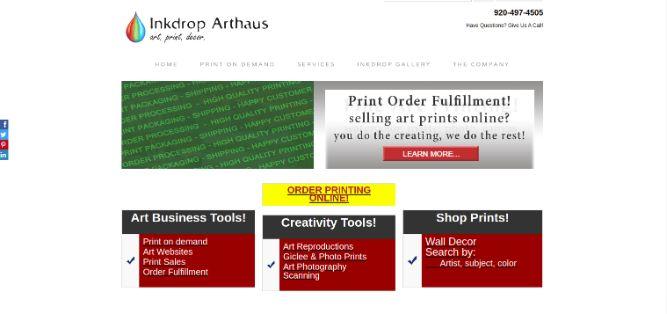 Inkdrop Arthaus- Print fulfillment service