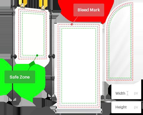 Bleed mark for banner customization