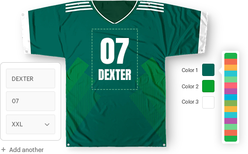 Sports jersey configurator