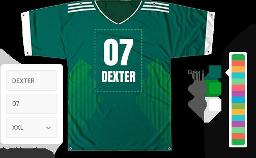 Sports jersey configurator