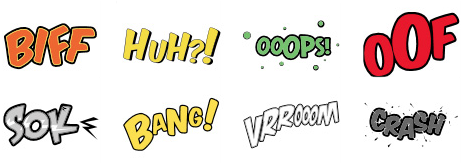Text effects in inkXE
