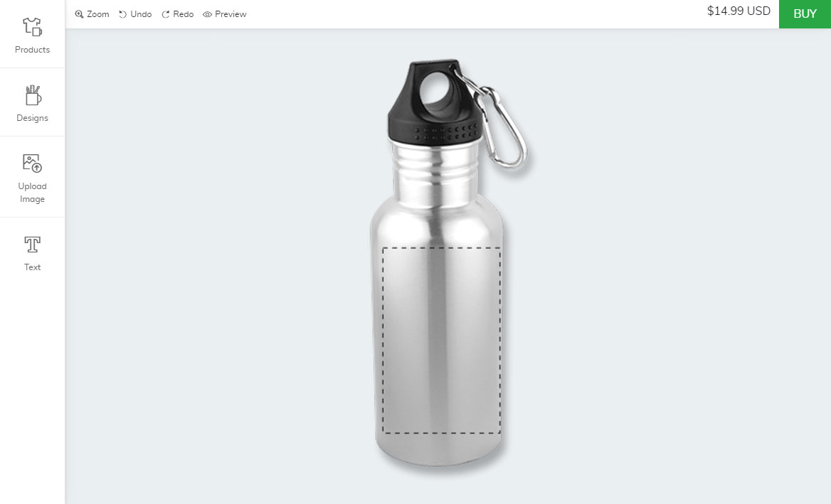 Shopify bottle designer tool