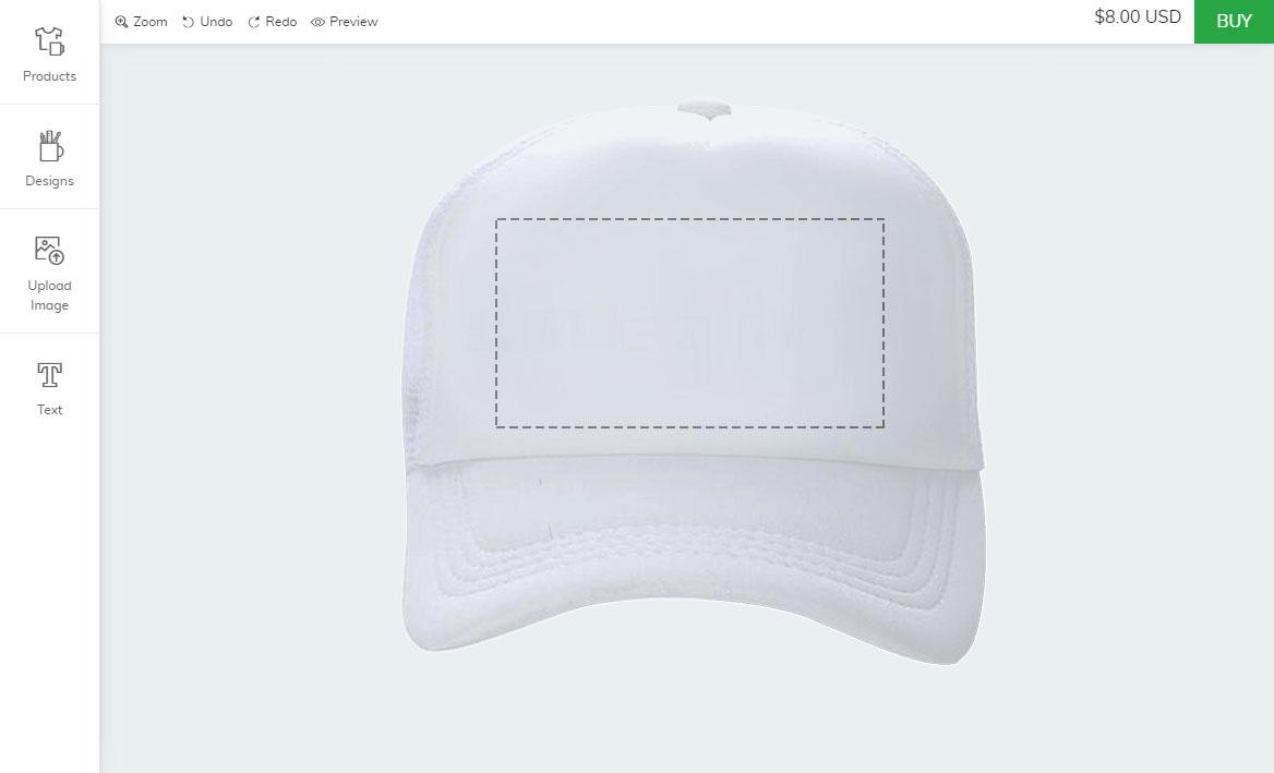 Zoey cap customization app
