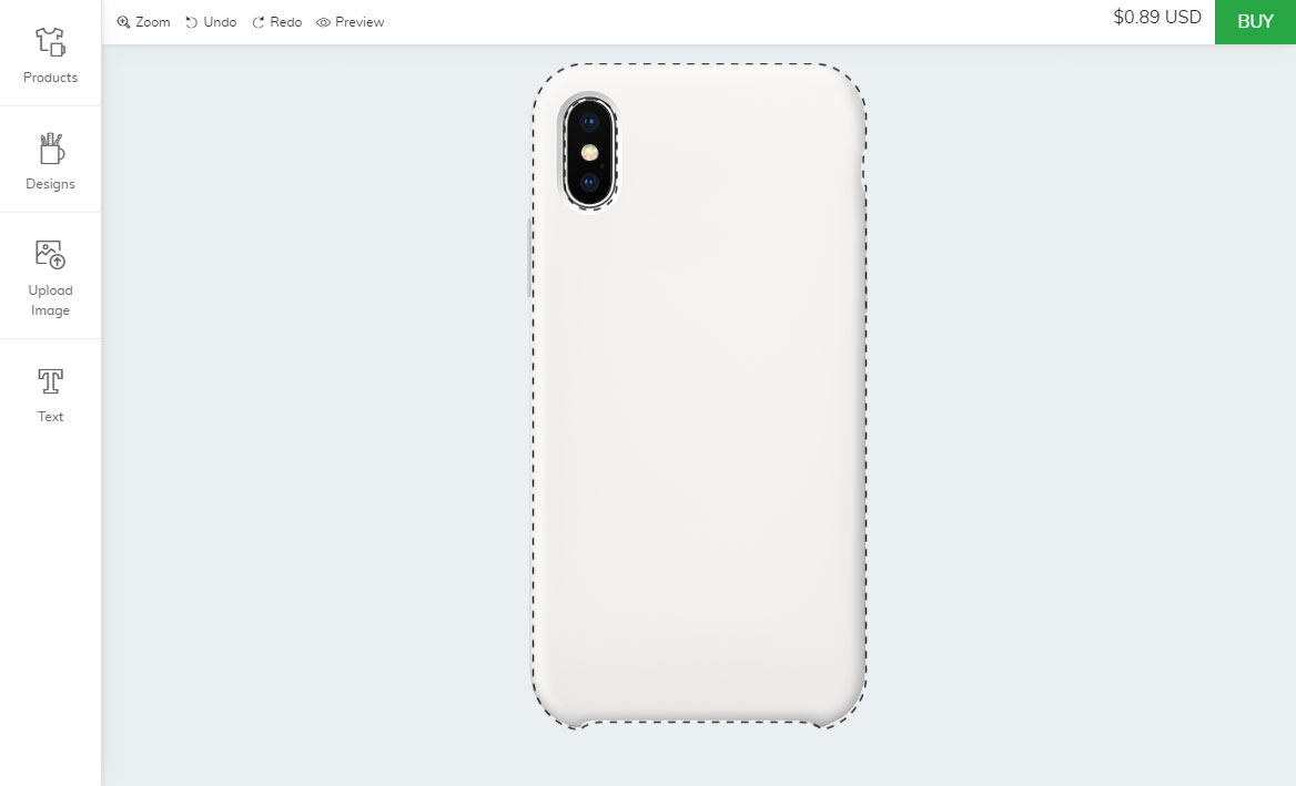 Shopify phone cover designer
