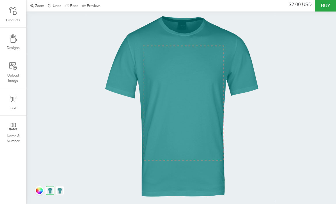 Bigcommerce t-shirt customization tool