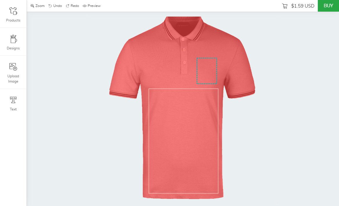 Zoey custom t-shirt designer