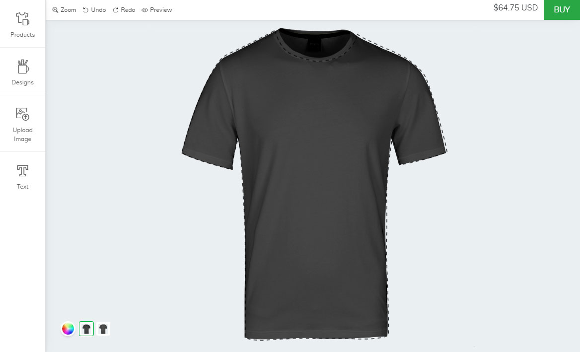 Shopify t-shirt design app