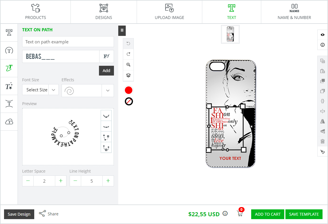 mobile case customization software inkxe