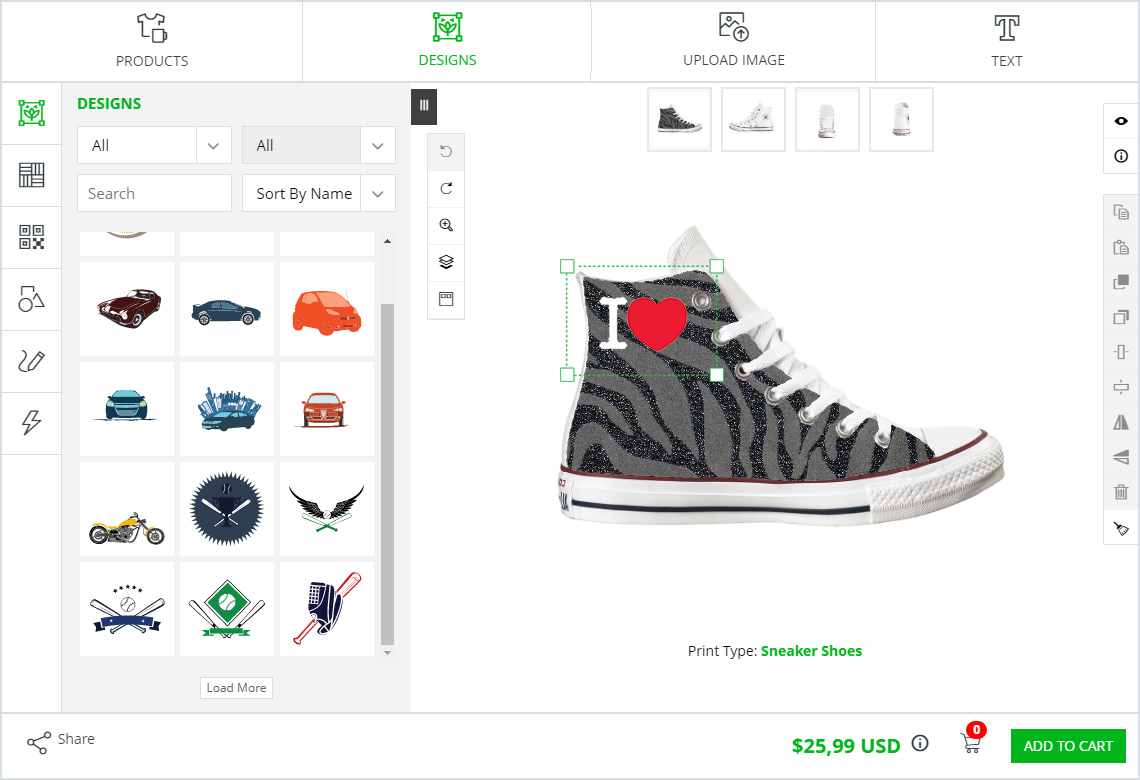 shoe customization software inkxe