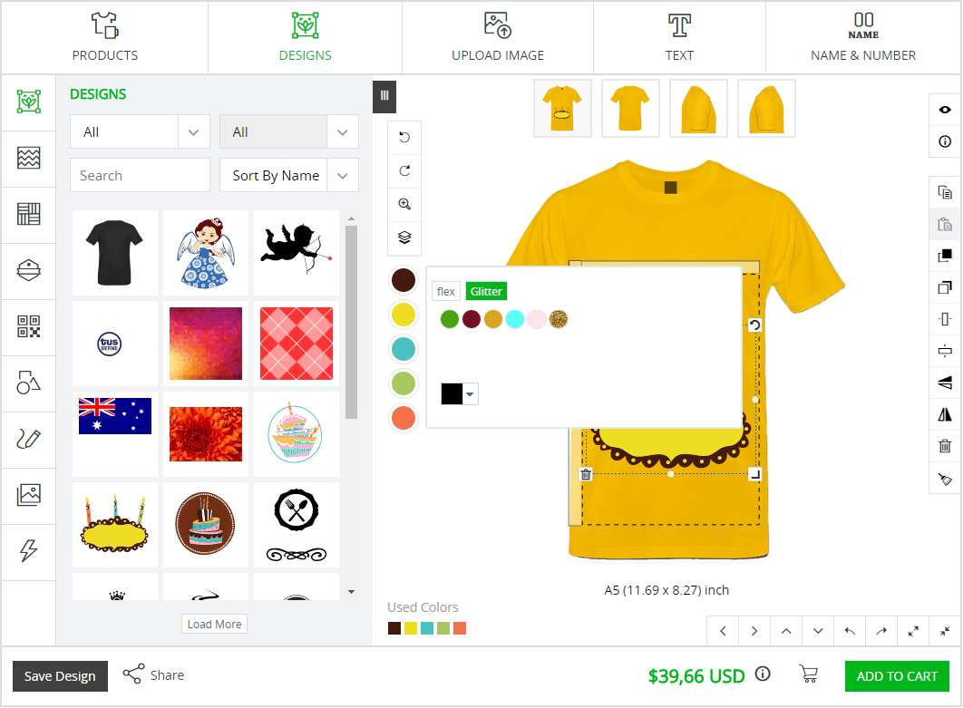color picker product customizer tool inkxe