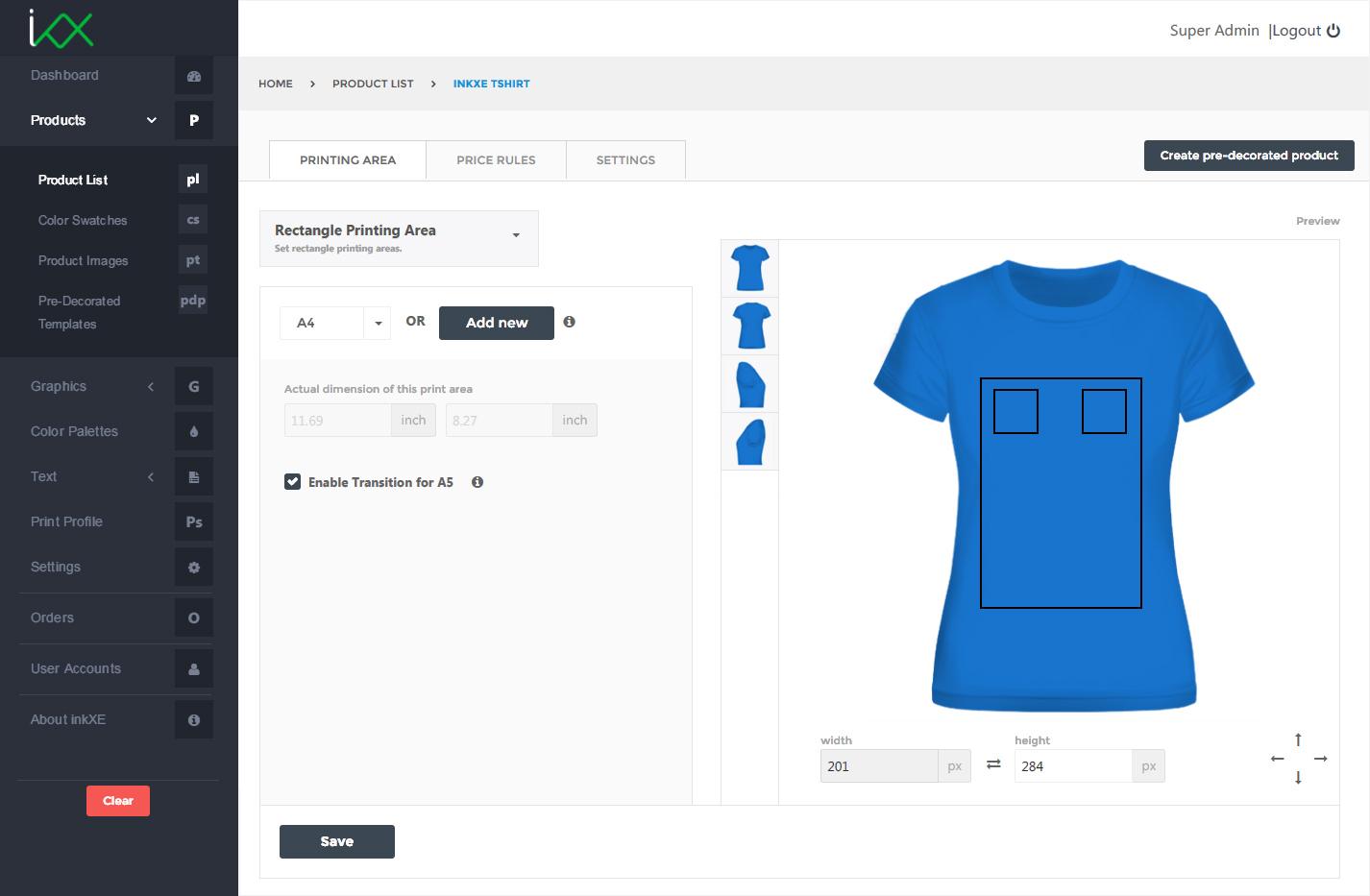 tier discount product customizer tool inkxe