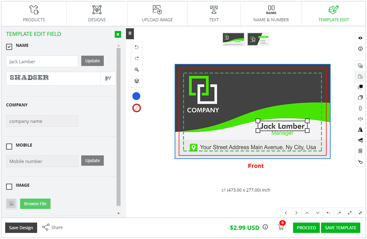 online template edit design software inkxe