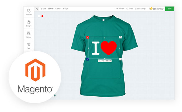 How does Magento work with inkXE