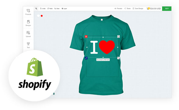 How does Shopify work with inkXE
